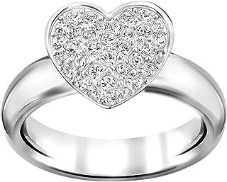 Swarovski Even Rhodium Plated Crystal Fashion Ring - Size S