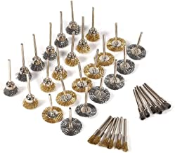 Staalborstel, MAGT 36 stuks Mini-formaat messing borstel Robuuste penvormige wielvormige staalborstel Messing staalborstel...