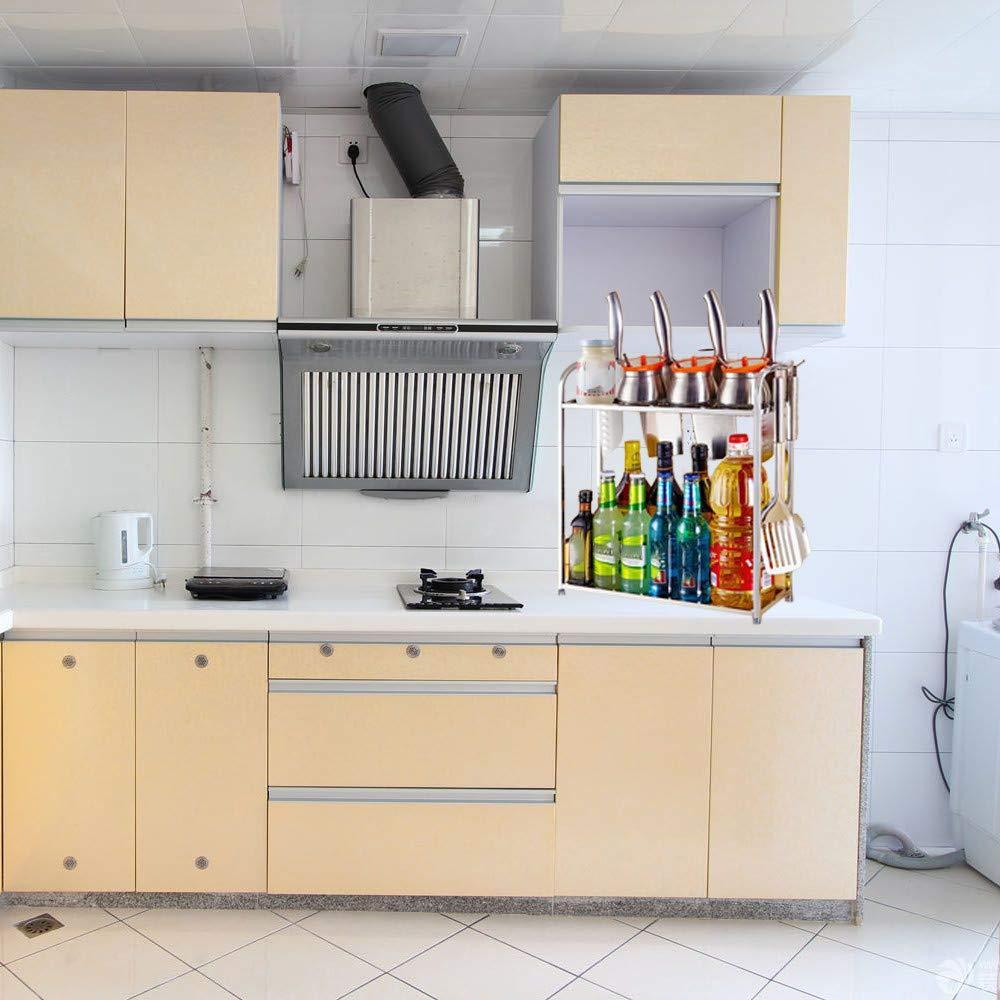 Heberry - Estante de Almacenamiento para Cocina (Acero Inoxidable): Amazon.es: Hogar