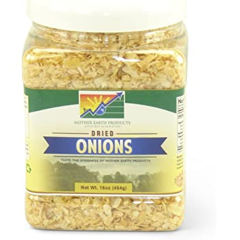 Mother Earth Products Dried Onions, Chopped, Net Wt 13 Oz(368g)
