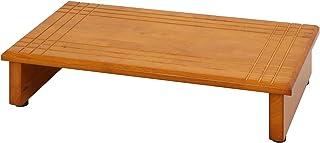 不二貿易 玄関台 踏み台 幅60cm  ブラウン 天然木 88989