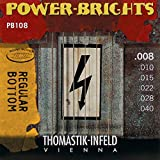 Thomastik-Infeld PB108 Electric Guitar Strings: Power-Brights 6 String Magnecore Round Wound Set E, B, G, D, A, E