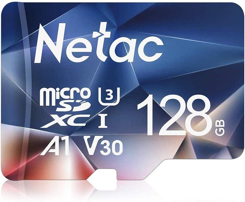 フォーマルぼろ保安Netac microsd カード 128GB microSDXC UHS-I 読取り最大100MB/s 667X U3 Class10 フルHD ビデオV30 A1 FAT32 高速フラッシュTFカード(ラップトップ/Bluetoothスピーカー/タブレット/スマートフォン/カメラ用)P500 【Amazon.co.jp限定】