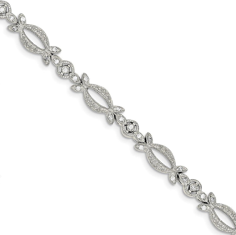 Beautiful Sterling silver 925 sterling Sterling Silver CZ Bracelet