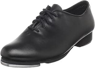 Dance Class Women's PTM101 Full Sole Jazz Tap Oxford Shoe, Black, 6