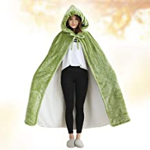 Wearable Fleece Blanket with hat and Pocket, Oversized Hoodie Blanket with 2 Hidden Clasp and lace up, Extra Soft, Warm,an...
