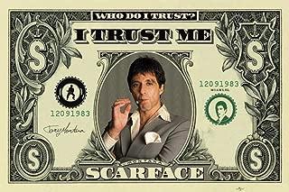 Scarface Money Al Pacino Movie Art Poster Print 22x34 Poster Print, 34x22 Poster Print, 34x22