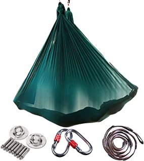 Brinny Yoga DIY Silk Pilates Premium Aerial Silks Equipment Aerial Yoga Tuch Aerial Silk elastische Yoga Hängematte mit St...