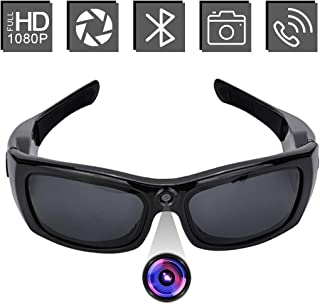 Bluetooth Sunglasses Camera, WHDSWL 1080P Mini Video Recorder Camera with UV Protection Polarized Lens, Great Convenient for Driving/Riding/Motorcycle and Outdoor Sports