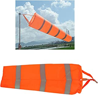 Airport Windsock,Wind Cone 80cm Long Outside Wind Sock Windsock Outdoor Wind Sock Bag with Reflective Belt