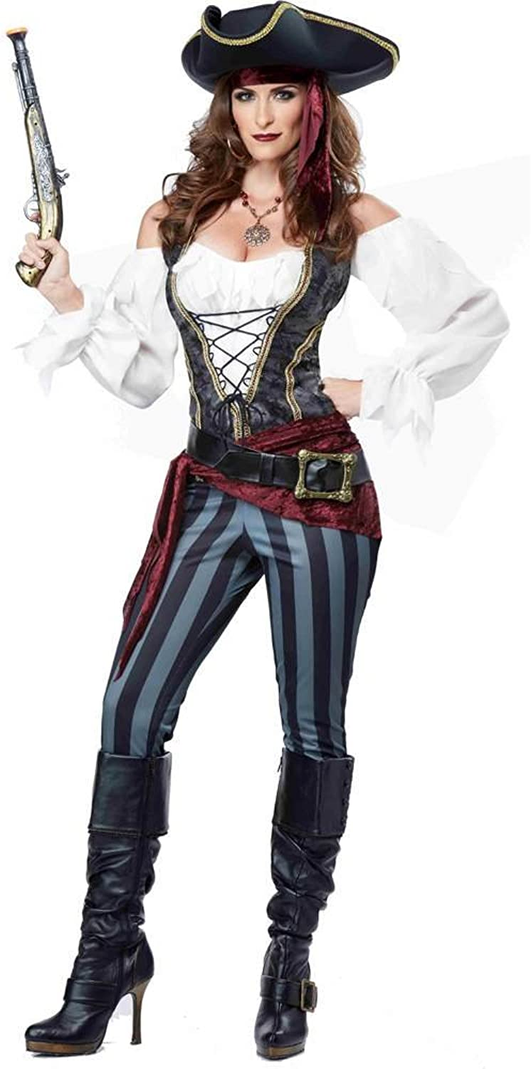 California Costume Brazen Buccaneer Pirate Costume Adult Ladies  Small
