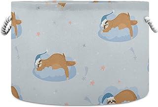 Okrągły kosz do przechowywania uroczy leniwy leniwiec składany wodoodporny kosz na pranie dla niemowląt pokój dziecięcy ko...