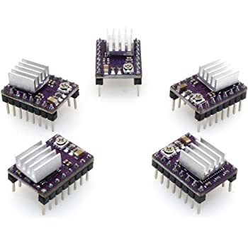 Witbot DRV8825 Stepper Motor Driver Module 4-Layer with Mini Heat Sink for 3D Printer RP1.4 A4988(Pack of 5pcs)