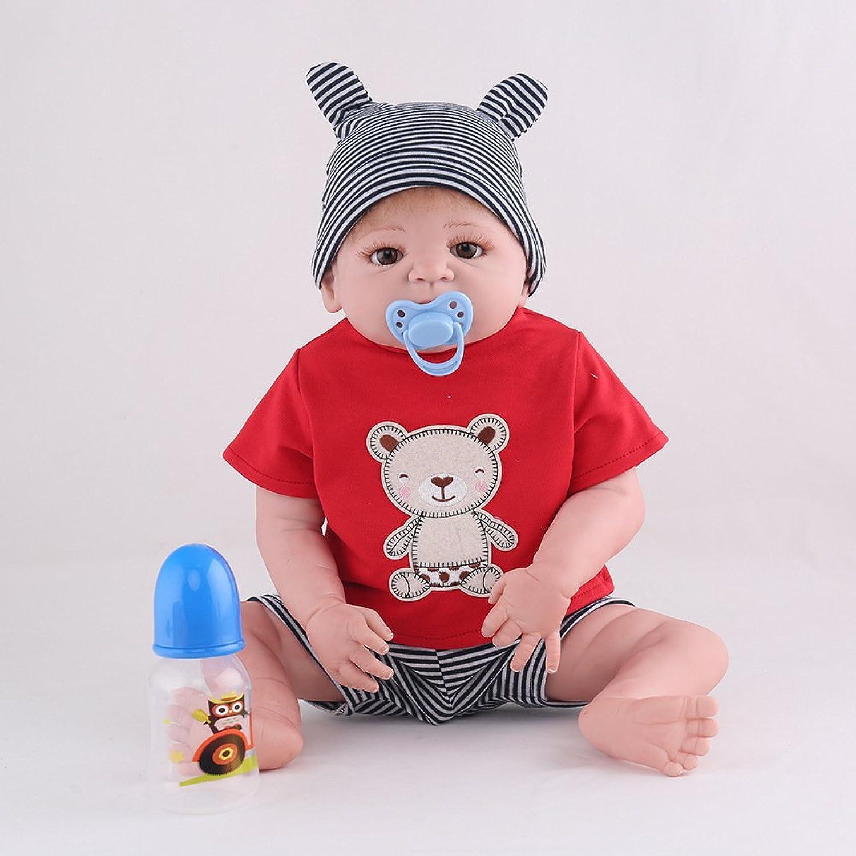 QXMEI Simulations Wiedergeburt Puppe Silikon Nettes Baby Kann In Das Bad Wssern Um Realistische Spielwaren Geburtstags Geschenk 55CM Der Kinder Zu Schlafen