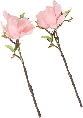 SOIMISS 2 Pièces Artificielle Fleur De Magnolia Tiges Faux Branches De Fleurs en Soie Fleur Floral Arrangements pour Le Maria