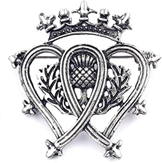 Traditional Scottish Style Luckenbooth Brooch Pin - Silver/Metal (0.3 oz)