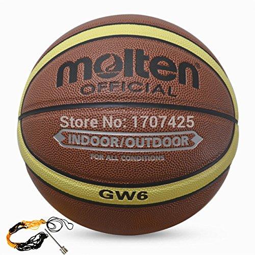 Sky 2Store 2015Nuovo marca Molten donne basket palle GW6pelle PU di alta qualità per esterni ed interni taglia 6palla da basket con ago + borsa