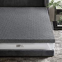 BedStory 2 Inch Bamboo Charcoal Infused Memory Foam Mattress Topper