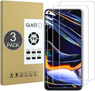 E-Hamii [3-pack 9H härdat okrossbart glas kompatibelt med Oppo Realme 7 Pro/Realme X7, [HD kristallklar] 0,33 mm skärmskyd...