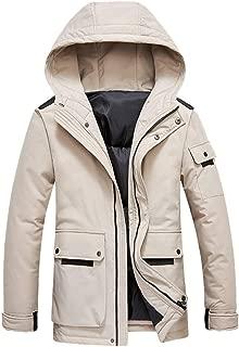 Large Size Coats for Men 2019 Winter Thick Jackets Warm Long Sleeve Hoodies Tops Puffer Fashion Zipper Outwear 4XL