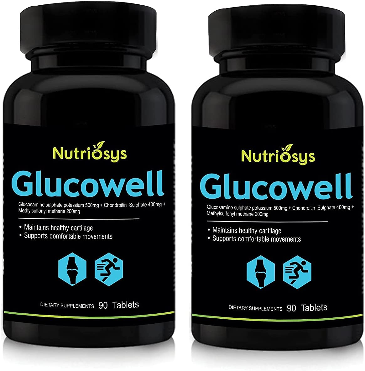 Trims Nutriosys Glucowell - Glucosamine 500 and New color Chondroitin MSM New product type