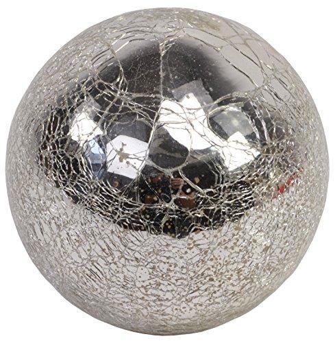 CHICCIE Balle en Verre à Poser Argenté 10 cm 12 cm 15 cm