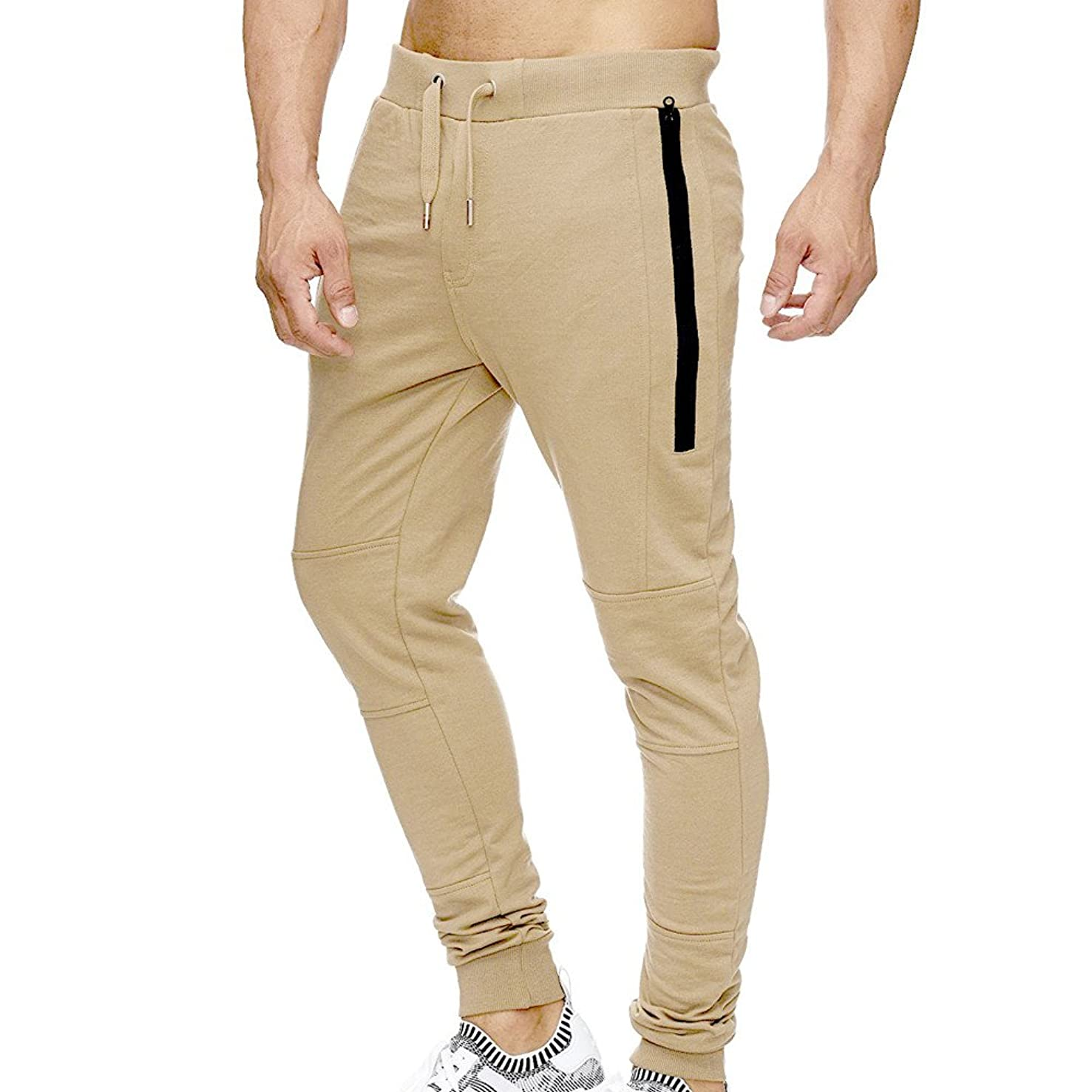 Xturfuo Men's Sweatpant Elastic Loose Fit Yoga Pants Quick Dry Joggers Breathable Pants