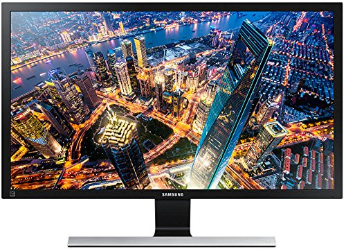 Samsung 23.5 inch (59.8 cm) LED Backlit Computer Monitor - Ultra HD, AH-IPS Panel with HDMI, DP and Audio Ports - LU24E590DS/XL (Black & Silver)