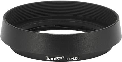 Haoge LH-VM36 Bayonet Metal Round Lens Hood Shade Compatible with Voigtlander Nokton Aspherical ASPH 40mm f/1.2 VM, 35mm f1.2 VM, 50mm f1.2 VM Leica M Lens Replaces LH-8 Black