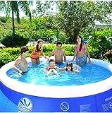TY&WJ Hinchable Piscina Familiar Redondo,Extra Grande Engrosado Piscina Infantil para Baby & Children,Jardín Patio Trasero Verano Piscina A 457x107cm(180x42inch)