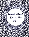 Blank Sheet Music For Lyre: Music Manuscript Paper, optical illusion cover, Clefs Notebook, composition notebook, Blank Sheet Music Compositio, (8.5 x ... Composition Books Gifts | gifts Standard for