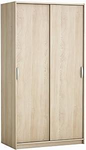 Demeyere Rolling - Armadio con 2 ante scorrevoli in legno di rovere (Shannon/lino)