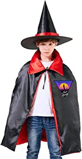 Cowboy Bebop Space Cowboy Silhouette Unisex Kids Hooded Cloak Cape Halloween Party Decoration Role Cosplay Costumes Outwear Red