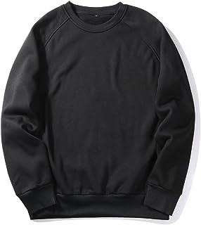 VANVENE Men Women Unisex Sweatshirt Plain Round Neck Classic Sweater Solid Color - UK Size S-2XL FBA