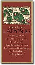 AMELIA SHARPE New Advice from A Ladybug Wood Plank Plaque Sign 12 x 8