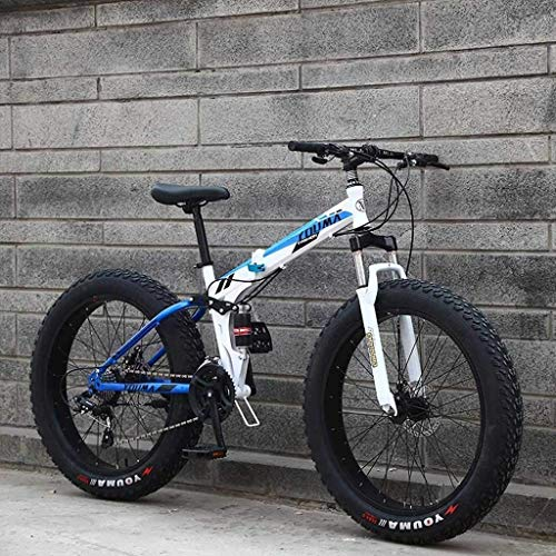 Mountain Bikes, 24Inch Men's Snowmobile, Dual Suspension Frame and Suspension Fork All Terrain Mountain Bicycle Adult 6-6,21 Speed fengong