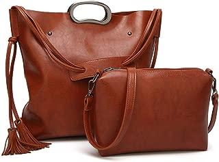 Fine Bag/Women's Hand Bag Work Bag Multi-Function Shoulder Strap Bag Multi-Pocket Capacity (Color : Brown, Size : One Size)