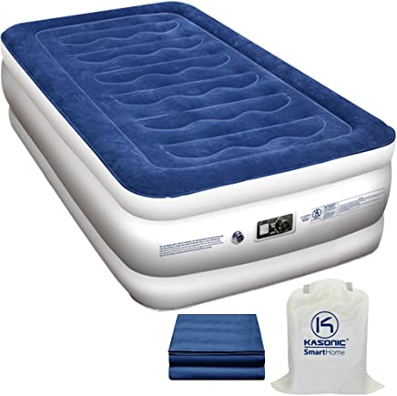 featured product Kasonic Air Mattress Twin Size - Inflatable Airbed with Free Fitted Sheet & Carry Bag; Height 18''; Built-in ETL Listed Electric Pump Raised Air Bed; Easy Setup for Home Use/Office Relax/Camping