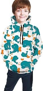 Dolphin Pattern Kids/Teen Girls' Boys' Hoodie,3D Print Pullover Sweatshirts