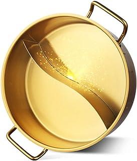 Pot Chaud Shabu Shabu Hot Pot Avec Diviseur Pour Cuisinière À Induction Cuisinière À Gaz Double Face Batterie De Cuisine À...