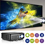 WIKISH WiFi Bluetooth HD Projecteur 4200 Lumen LED LCD sans Fil Home Theatre Multimédia Vidéo...