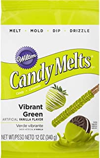 Wilton 1911-421 Candy Melts, 12-Ounce, Vibrant Green