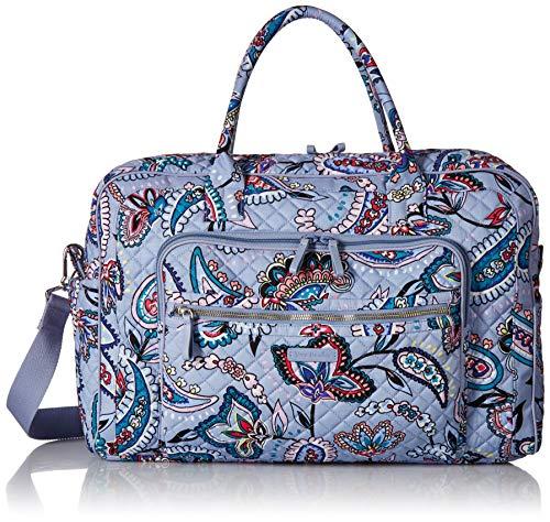 Vera Bradley Women's Iconic Weekender Travel Bag, Signature Cotton, Makani Paisley, One Size