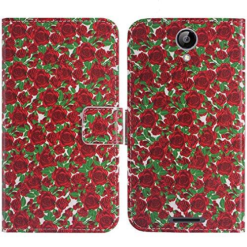 TienJueShi Rose Blume Flip Book Stand Brieftasche Leder Tasche Schütz Hülle Handy Handy Hülle Für TP-Link Neffos C5A 5 inch Abdeckung TPU SilikonWallet Cover Etüi