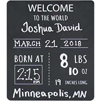 Photo Prop Board 11.5 x 9 Design Possible Welcome Baby Announcement Reversible Chalkboard