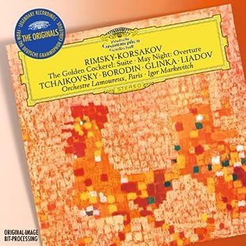 "Rimsky-Korsakov: The Golden Cockerel Suite; May Night Overture / Tchaikovsky: Francesca da Rimini, Op.32 / Borodin: In the Steppes of Central Asia / Glinka:Overture ""Ruslan and Ludmilla"" / Liadov: Fragment de l'Apocalypse, Op.66"