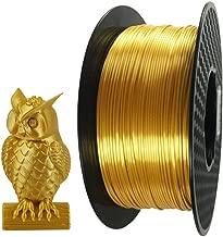 Silk Gold PLA Filament 1.75mm 3D Printer Filament 1 KG 2.2 LBS Spool 3D Printing Material CC3D Shine Silky Shiny Metallic Metal PLA Filament