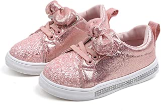 EISHOW Kids Baby Infant Girls Boys Fashion Sneakers Sequin Bowknot Casual Boots Sport Shoes Footwear for 1-6 Year Old
