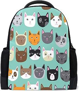 Lindo gato cara viaje portátil mochila escuela libro bolsa gatito gatito animal causal mochila al aire libre negocios senderismo mochilas camping bolsas de hombro para estudiantes mujeres hombres