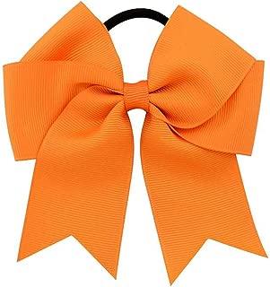 2019 Girls Cheerleading Bow Elastic Hair Bands child Ribbon Rope Ponytail Holder Kids Fabric School Girls Hair Accessories